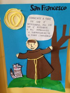 BAMBINO DI MAMMA Bible Crafts For Kids, Fun Crafts, Catholic Crafts, All Souls Day, All Saints Day, Francis Of Assisi, Sunday School, Problem Solving, Origami