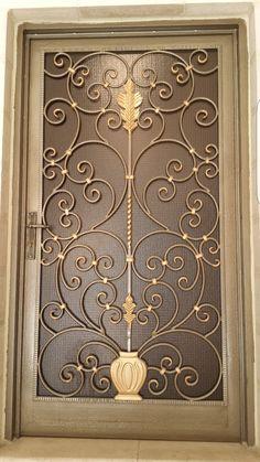 Iron door design modern Ideas for 2019 Grill Gate Design, Window Grill Design, Door Gate Design, Main Door Design, Wrought Iron Decor, Wrought Iron Gates, Window Bars, Metal Gates, Iron Doors