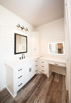 Double Vanity, Kitchen Cabinets, Bathroom, Furniture, Design, Home Decor, Dream Houses, House Ideas, Washroom