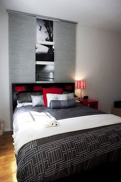 gray and red bedroom. black white gray and red bedroom - furniture is not as popular today it was that a shame because of t