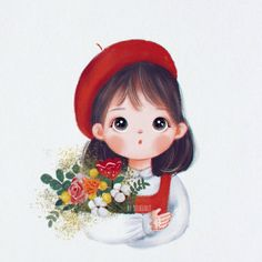 Cute Girl Wallpaper, Cute Wallpaper Backgrounds, Disney Wallpaper, Pretty Wallpapers, Kawaii Drawings, Disney Drawings, Cute Drawings, Cartoon Art, Girl Cartoon