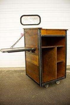 Industrial POS Cart or Hostess Podium by oldeschoolcraftsmen, $1225.00