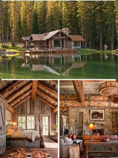 45 small log cabin homes ideas 38 Small Log Cabin, Log Cabin Homes, Log Cabins, Rustic Cabins, Cabins In The Woods, House In The Woods, Style At Home, Building A Shed, Building Plans