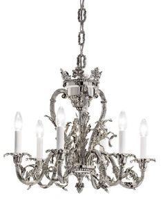 Empire chandelier and sconce in antique silver christopher hyde dauphin chandelier in antique silver mozeypictures Image collections