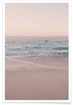 Rosegold Beach Morning als Premium Poster von Monika Strigel   JUNIQE