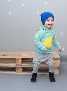 Baby harem pants, baby boys harem pants grey sweatshirt harem pants