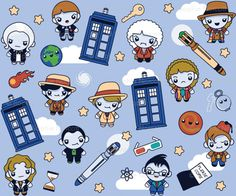 Doctor Who fabric! I still have yet to order some to make a baby blanket or even crib sheets.
