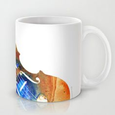 Violin Art By Sharon Cummings Mug by Sharon Cummings - $15.00