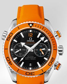 OMEGA Seamaster Planet Ocean 600 M Omega Co-Axial Chronograph 45.5 mm - Steel on rubber strap