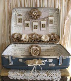 Vintage Suitcase Wedding Card Holder by TheShabbyChicWedding, $165.00