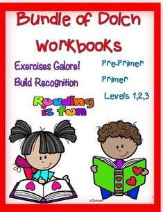 Bundle of Dolch Workbooks--- All Levels! by Essential Reading- Language Skills