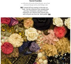 fabric rosettes via jcrew blog