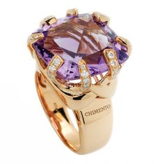 Amethyst and diamond ring by Chimento
