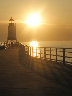 Piers hold a special place in Michigander's hearts. Charlevoix, Lake Michigan
