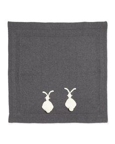 Knit Bunny Baby Blanket, Gray by Stella McCartney at Bergdorf Goodman.