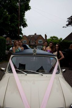 1963 stretched Mini limousine wedding car Ivory Paint, Wedding Car, Mini