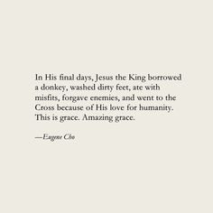Eugene Cho #christian #faith #quotes #eugenecho #grace