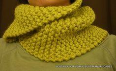 Olá amigas(os)!! Com o frio se aproximando,que tal uma golinha em trico muito fácil e simples de fazer?? E então gostara...