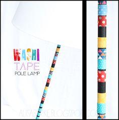 alisaburke: washi tape pole lamp