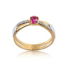 Anel de Formatura Ouro com Diamante 4 Pontos AG046