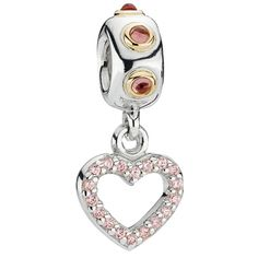 Love this-Gift idea for Valentine's Day :-)  Pandora Be My Valentine with Rhodolite & CZ Dangle Charm