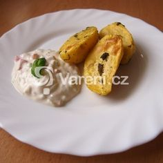 Fotografie receptu: Bylinkové brambory s jarním dipem Dip, Eggs, Breakfast, Food, Morning Coffee, Salsa, Essen, Egg, Meals