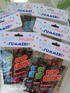 Pop Rocks end of year goody bags