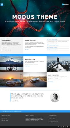 MODUS - Multipurpose Bootstrap Theme #responsive #template #website #bootstrap