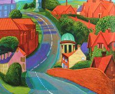 David Hockney | The Road to York through Sledmere, 1997