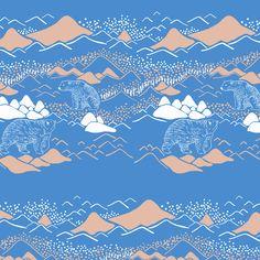 【Polar bear】Orie's animal textile design. #くま #bear #動物 #イラスト #テキスタイルデザイン #textile #design #柄 #デザイン Textile Pattern Design, Textile Patterns, Textiles, Design Repeats, Bear Design, Repeating Patterns, Polar Bear, Arctic, Oliver Bonas