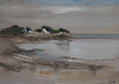 """Georges Laporte (1926-2000) ~ """"Quiberon"""", Bretagne ~ Huile sur Toile 92 x 65cm"""