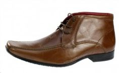 Red Tape Bevern Tan Brown Lace Up Chelsea, Ankle Boots Mens Leather Square Toe - £26.99