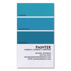 paint swatch business card - Painting Business Cards