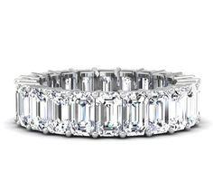 5 Carat Emerald Cut Diamond Eternity Band