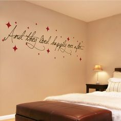 Great Master Bedroom Decorating Ideas With Wall Decals Wedding Quotation Picture