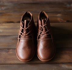 Handmade Brown Shoes for Women,Ankle Boots,Flat Shoes, Retro Leather Shoes, Oxford Shoes, Short Booties by HerHis on Etsy https://www.etsy.com/listing/261917608/handmade-brown-shoes-for-womenankle