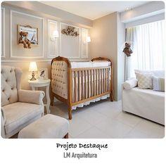 """""""Bons sonhos com este lindo quarto de bebê. Projeto by @lm_arquitetura .  @arquiteturade❤️. #arquiteturadecoracao #arquitetura #ambientacao #decor…"""""""