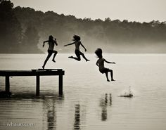 Summer Time...Jumping In The Lake : )