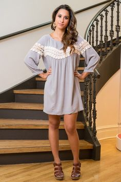 Gorgeous Romantic Spring Dress at trunk-up.com. Perfect for Spring, the crochet lace detail is absolutely stunning.