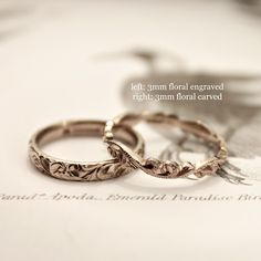 Extremely well done, hand chiseled rings. So nice. I'd like a ring like this. – Ashley Camarillo Extremely well done, hand chiseled rings. So nice. I'd like a ring like this. Extremely well done, hand chiseled rings. So nice. I'd like a ring like this. Diamond Wedding Rings, Bridal Rings, Wedding Band, Dream Wedding, Stoneless Engagement Ring, Engraved Rings, Ring Verlobung, Unique Rings, Gold Rings