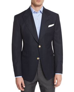 Spencer+Base+Two-Button+Blazer,+Navy+by+TOM+FORD+at+Neiman+Marcus.