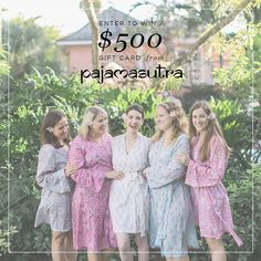 Want to win a $500 gift card to help you dress up your ladies in gorgeous @pajamasutra robes? Get excited because today's your lucky day! 10 wedding bloggers (myself included) have teamed up with Pajama Sutra to bring you this amazing sweepstakes and help you lounge like a goddess! And lucky for you entering to win has never been easier!  HOW TO ENTER: 1. Follow @Heyweddinglady  @pajamasutra  like this photo 2. Tap on the photo once to see who Ive tagged then follow her  like her photo 3…
