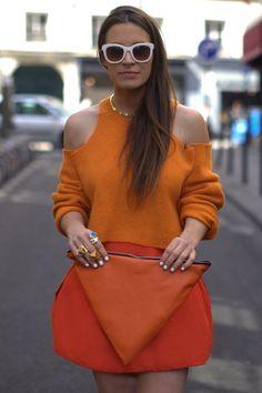 STREETSTYLE DIY | Oranje trui zonder schouders
