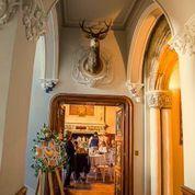 Salon entrance for dining