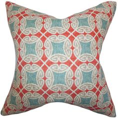 The Pillow Collection Warren Geometric Cotton Throw Pillow & Reviews | Wayfair