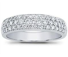 d383d943a16 1.50 ct Ladies Round Cut Diamond Anniversary Wedding Band Ring in Platinum  Wedding Anniversary Rings
