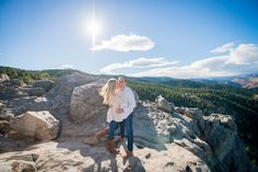 Flagstaff mountain engagement! Would be even better with oots of snow!!!!!!