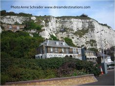 The White Cliffs of Dover are one of England's most recognizable landmarks.  These white chalk cliffs are the closest point of England to the European continent.