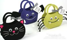 Felt Halloween Bags by Nichole Heady for Papertrey Ink