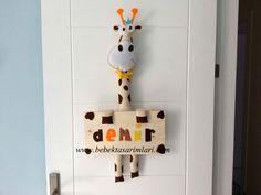 Bebek Kapı Süsleri / ZURAFA- bebek odası kapı süsü-erkek